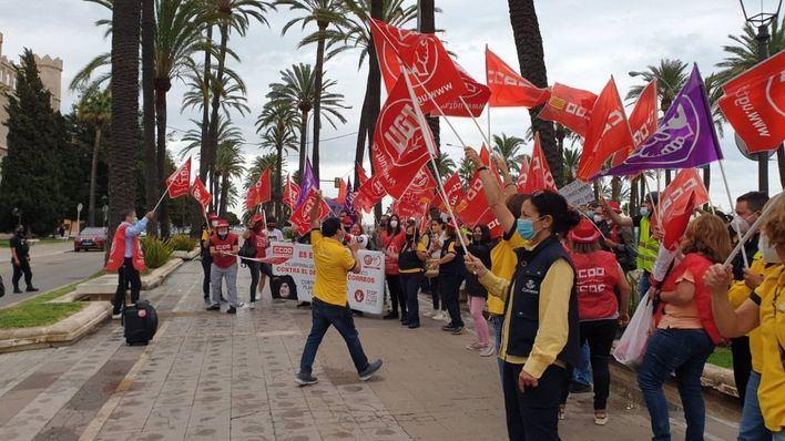 La 'rodada postal' se hace sentir en Palma en contra del