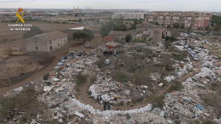 La Guardia Civil detiene a seis personas por lucrarse con los residuos del vertido ilegal de Son Güells