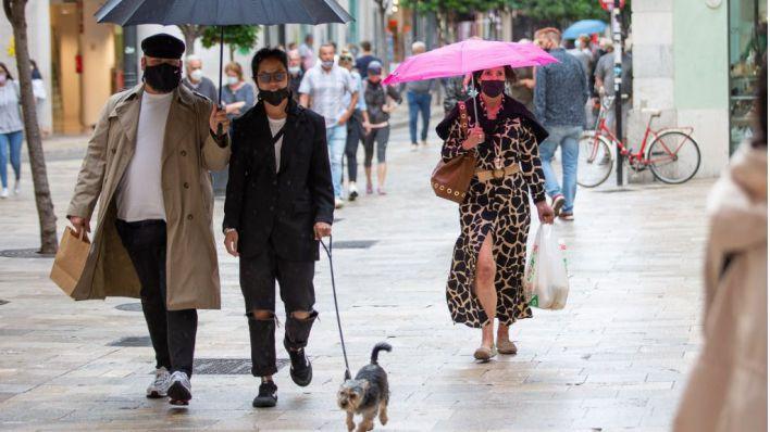 Fin de semana de lluvia y descenso de temperaturas en Mallorca