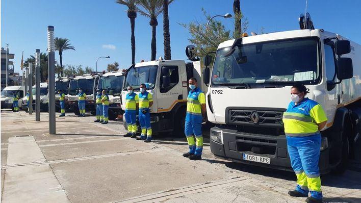 Cort suma 40 trabajadores más para el dispositivo de limpieza en Playa de Palma