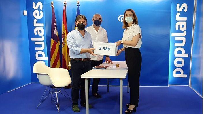 Prohens presenta 3.588 avales para su candidatura a presidir el PP de Baleares