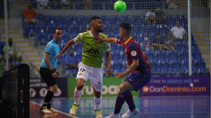 Golpe del Barça al Palma Futsal en la prórroga