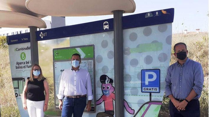 Palma presenta la campaña 'Combina Bé' para dejar los coches en los aparcamientos disuasorios gratuitos