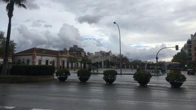 Cielo cubierto en Mallorca, con alguna precipitación débil con barro