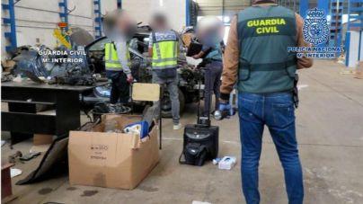 Cuatro detenidos en Palma en una operación contra la venta de coches robados