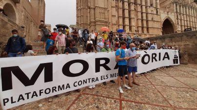 Protesta en Palma contra la llegada masiva de megacruceros