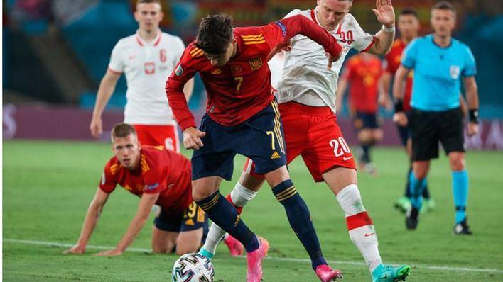 España se jugará pasar a octavos ante Eslovaquia tras empatar con Polonia