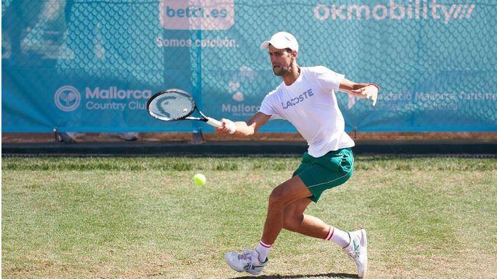 Todo preparado para el debut de Djokovic en el 'super martes' del Mallorca Championships