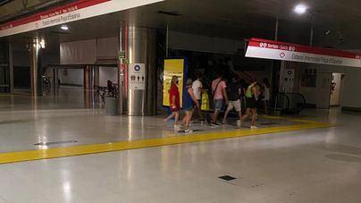 Una avería eléctrica deja la Intermodal a oscuras e impide que salgan trenes y metro