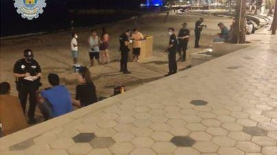 Intervienen un botellón en Ibiza e imponen 11 denuncias
