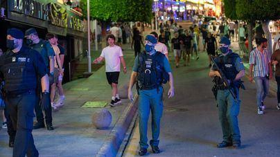 Sin concesiones en Magaluf: Guardia Civil y Policía Local contra los excesos