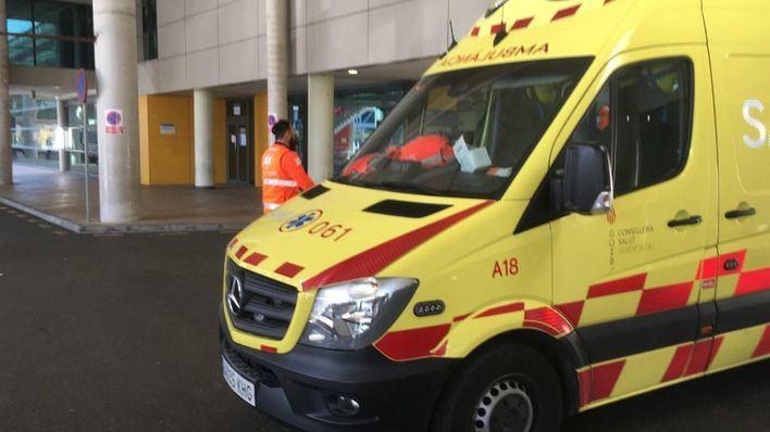 Dos heridos en una colisión entre un coche y un turismo en la carretera vieja de Llucmajor