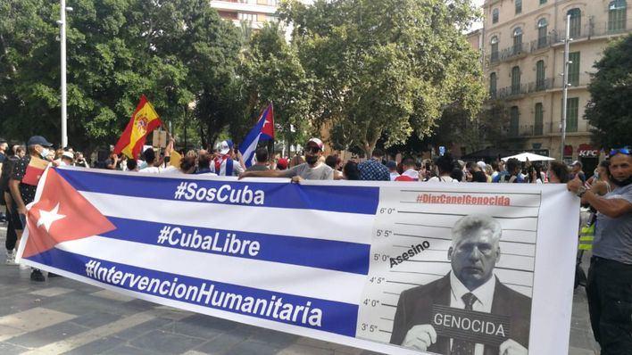 Cubanos residentes en Mallorca se unen a las movilizaciones contra la dictadura