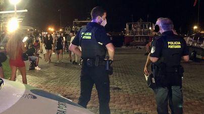 La policía interviene en varios botellones y peleas multitudinarias en Palma