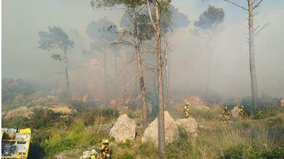 Dan por estabilizado el incendio forestal en el Coll de Sa Gramola