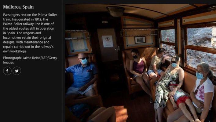 El Tren de Sóller, protagonista en la prensa internacional a través de las fotos de Jaime Reina