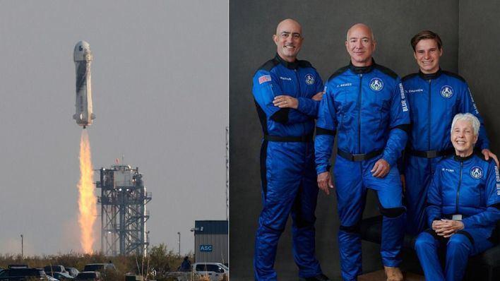 Jeff Bezos viaja al espacio con su propio cohete