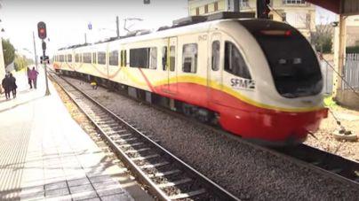Interrumpida la línea de tren entre Palma e Inca por un intento de suicidio