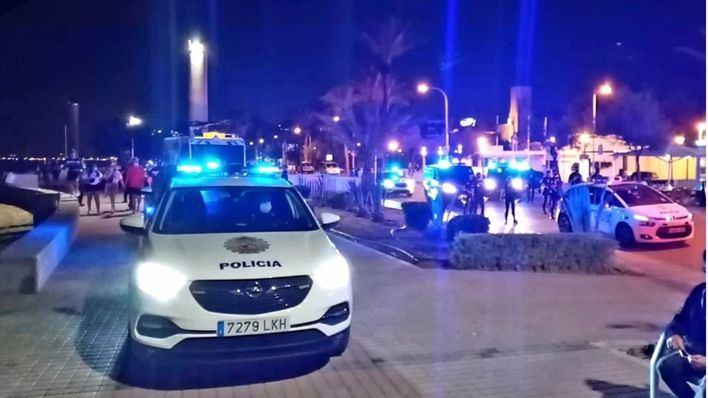Drones contra botellones en Palma