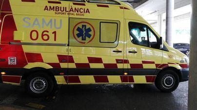 En estado grave un operario tras caer desde una altura de seis metros en Sencelles