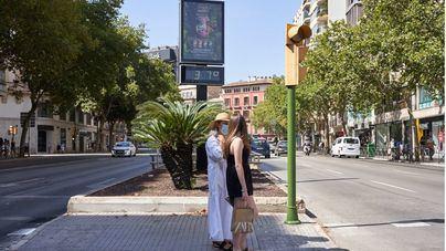 Temperaturas en ascenso, especialmente altas en el interior de Mallorca
