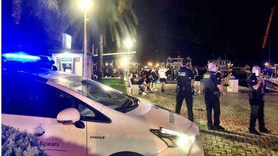 El dispositivo antibotellón del fin de semana en Palma se salda con medio centenar de actas