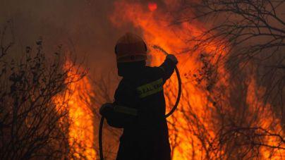 Sobrecogedoras imágenes de los incendios de Grecia