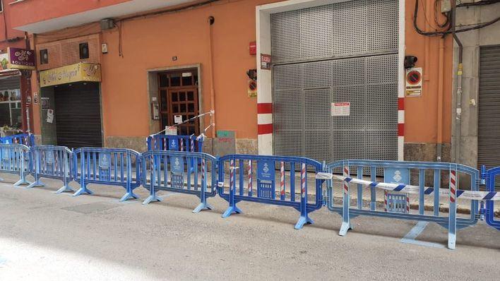 Desalojados dos edificios en Palma por peligro de derrumbe