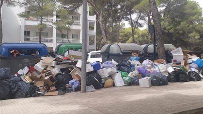 Capdepera, quinto día de huelga de basuras sin servicios mínimos