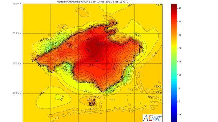 Baleares continúa en alerta naranja por las altas temperaturas que pueden llegar a los 41 grados