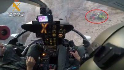 Rescatan en helicóptero a tres montañeros de Baleares en Cantabria