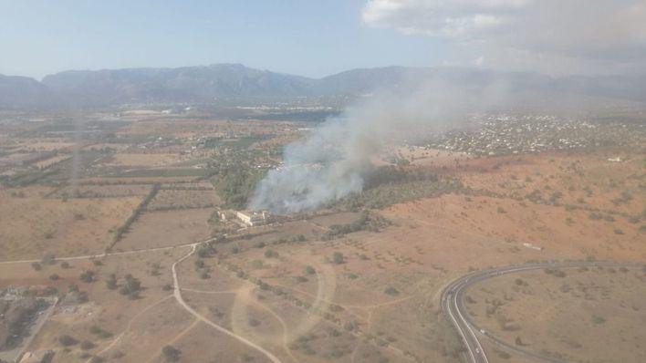 Controlado el incendio declarado en unos terrenos agrícolas de Marratxí
