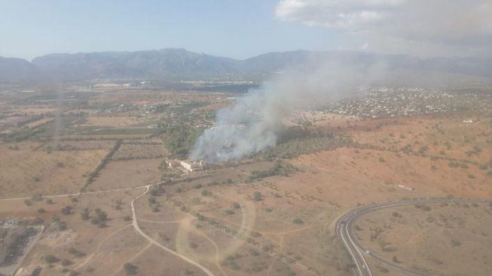 Extinguido el incendio de Marratxí tras arrasar 3,2 hectáreas de zona agrícola