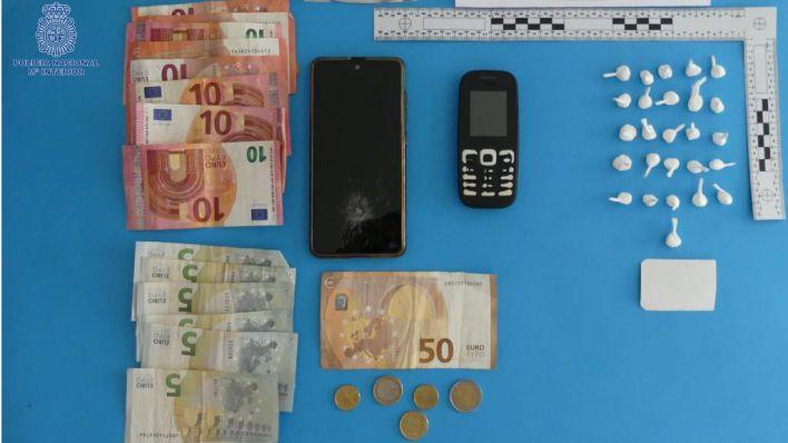 Detenido con 26 papelinas de cocaína en Portocristo