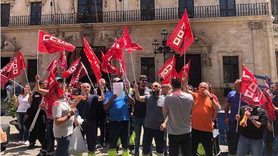 Huelga indefinida de los jardineros del Ayuntamiento de Palma