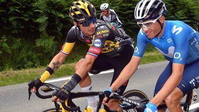 Roglic le arrebata la victoria al mallorquín Enric Mas en la etapa del Valdepeñas