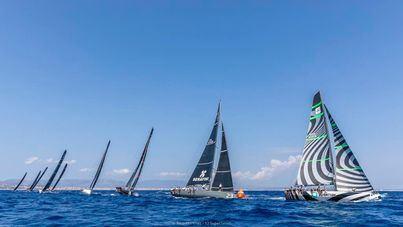 El 'Quantum' se impone a la flota de barcos TP52 en Puerto Portals