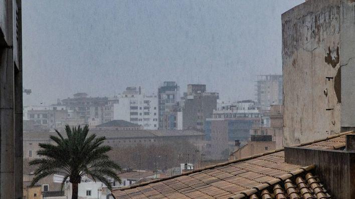 Lluvia de barro en Mallorca