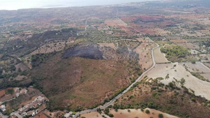 Incendio del Puig de Son Manxo, cerca de Sant Llorenç