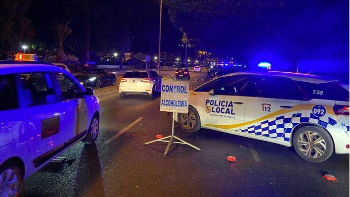 120 multas durante el dispositivo antibotellón del fin de semana en Palma