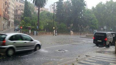 Alerta por lluvia intensa en Mallorca