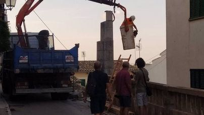 Bunyola retira la Cruz de los Caídos, que sustituirá por un olivo