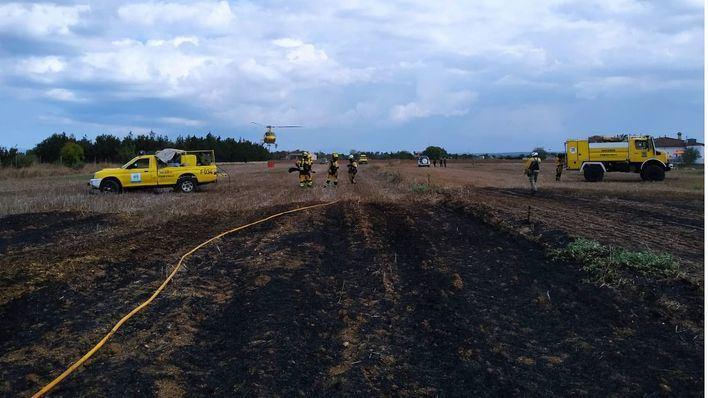 Extinguido un pequeño incendio en el Torrent de Sant Miquel de Sa Pobla