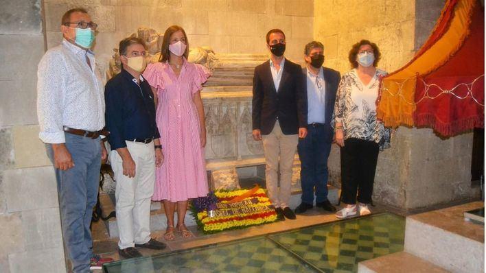 El PP celebra la Diada de Mallorca con una ofrenda florar en la tumba de Jaume II