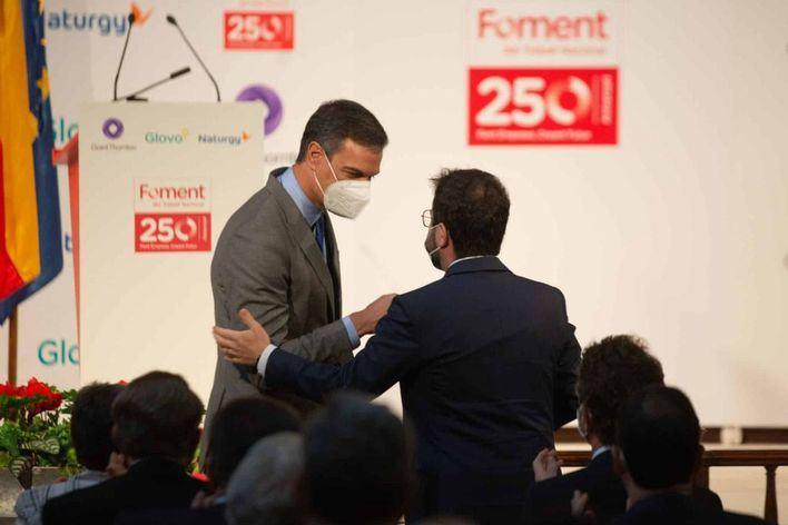 Sánchez se reúne con Aragonés para impulsar la