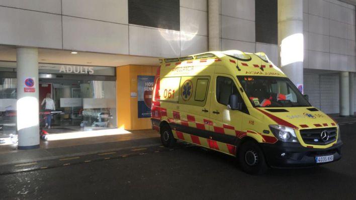 Herido un obrero al caer de un andamio a un foso en la Bonanova