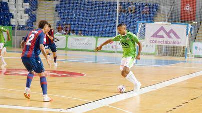 Fiesta y goles en Son Moix con la victoria del Palma Futsal ante el Levante