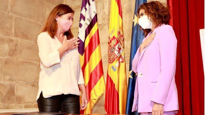 Armengol y Montero negociarán el jueves en Palma el factor de insularidad
