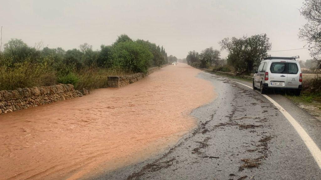 La gota fría deja 158 litros en Santanyí y 74 en Can Picafort