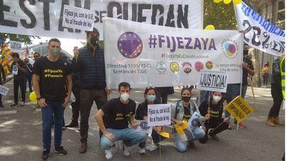 Protesta de los interinos y temporales de Baleares en Madrid